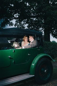 A 1920s and 1930s Antique and Old Fashioned Vintage Inspired Barn Wedding
