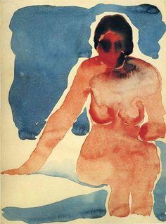 Untitled (Seated Nude), 1917, Georgia O'Keeffe.