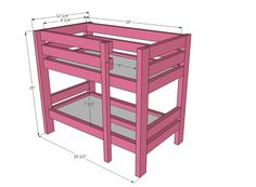 Bunk Bed Plans with Amazing Look : Creative American Girl Doll Bunk Bed Plans Design
