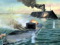Battle between USS Monitor and CSS Virginia