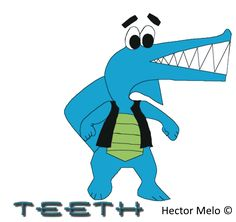 Teeth is a comic cartoon character created by Hector Melo ©