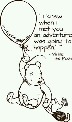 I love the classic Winne the pooh! I still have a blanket of pooh that I got when I was two. I plan on making a quilt for my children in the future The Words, When I Met You, Winnie The Pooh Quotes, Winnie The Pooh Drawing, Piglet Quotes, Winnie The Pooh Pictures, Winnie The Pooh Classic, Disney Winnie The Pooh, Youre My Person