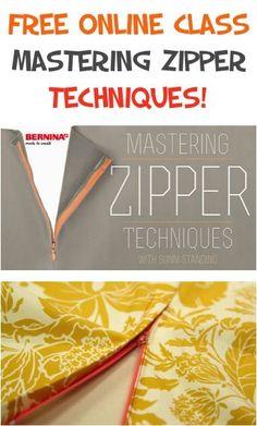 FREE Online Class: Mastering Zipper Techniques!