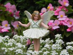"4"" Christmas Tree Fairy Fairy Garden Supply Cicely Mary Barker - accessories - cake topper miniature garden - terrarium - Supplies - cute fairy"