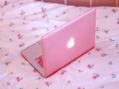 pretty pink macbook...is this real? oh how i want!