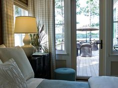 HGTV Dream Home 2013: Master Suite Bedroom.  With private deck access, early morning coffee, marshside, is a treat for the homeowner or guests.