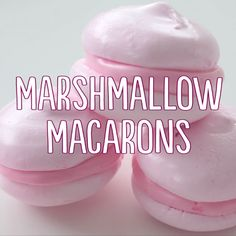 French macarons made out of marshmallows! Pop one of these into your hot chocolate for a sweet and adorable snack!