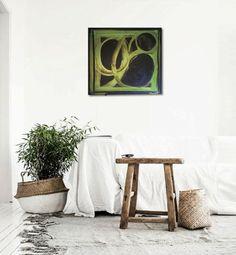'ViRiDESCENCE' original abstract painting by Linnea Heide ©www.linneaheide.com
