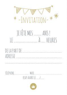 Carte Invitation Anniversaire A Imprimer 11 Ans Recherche Google