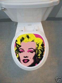 warhol Marilyn Monroe Toilet seat Tattoo Skin