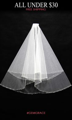 Only $24.78, Veils Simple Short Ivory Wedding Veil with Beading Hem #BV003 at #GemGrace. View more special Veils now? GemGrace is a solution for those who want to buy delicate gowns with affordable prices, a solution for those who have unique ideas about their gowns. Shop new arrivals!