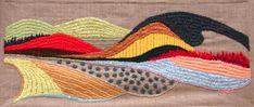 Tapestry Embroidery Fiber art Wall Tapestry Handmade by nerina52. $690.00 USD, via Etsy.