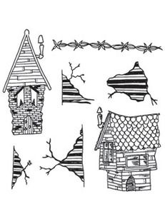 Dyan Reaveley THIS OLD HOUSE Cling Stamp DYR38306 zoom image
