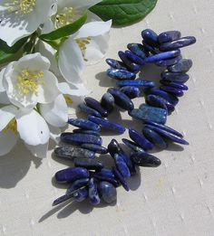 Lapis Lazuli Gemstone Elasticated Bracelet  by SunnyCrystals, £9.25