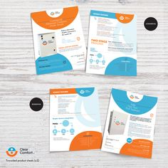 Two, two-sided product sheets by Lefteris P.