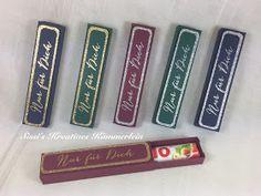 Hallo     Hier habe ich noch ein paar Schokoladenverpackungen, die ich euch zeigen mag.       Hier passt ein Riegel Duplo oder Kinderschoko...