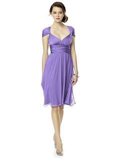 Twist Wrap Dress w/ Chiffon Overskirt: Short http://www.dessy.com/accessories/twist-dress-chiffon-overskirt-short/#.VMfBKHsTiM8