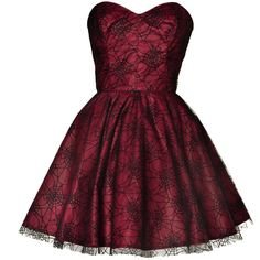 spider-lace-mini-party-dress found on Polyvore