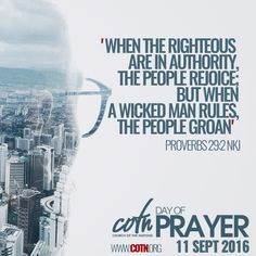 P R O V E R B S   29:2  #churchofthenations #cotndayofprayer