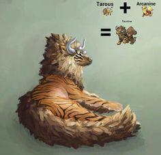 Pokémon Fusion: Tarous + Arcanine = Taunine