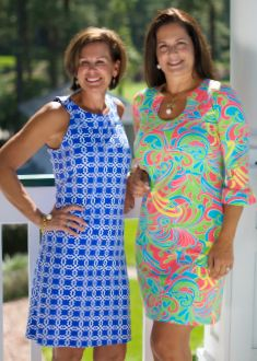 Katherine Way dresses are right at home at the clubhouse. Inspired by women with busy lifestyles, our dresses fit and flatter and are perfect for any occasion. Seaside and Naples dresses shown here and named from two of our favorite cities. Visit our website to find a store near you.