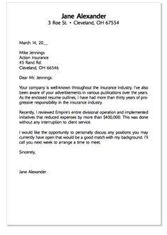 cover letter template for insurance industry  Sample Cover Letter Marketing - http://exampleresumecv.org/sample ...