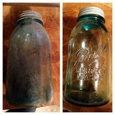 easy Instructable - how to clean antique (and not so antique) jars. No fancy chemicals or detergents and barely any elbow grease!