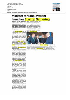 Dublin: Southside People- Minister for Employment lauches Start Up Gathering