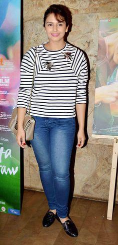 Huma Qureshi at the screening of 'Margarita With A Straw'. #Bollywood #Fashion #Style #Beauty