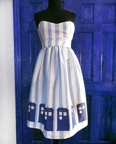 So I guess this is a Dr. Who dress? They just look like phone booths to me. It's cute, though.