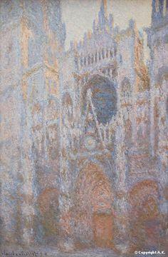 Edgar Monet: cathédrale de Rouen façade_ouest