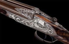 The most expensive gun in the world Greener sidelock. VW Greener's recently built 'Viking' shotgun
