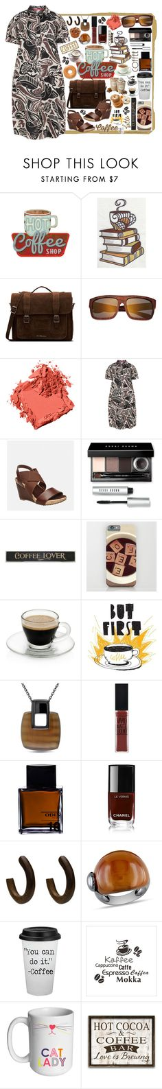 """Hot Coffee Shop!"" by curekitty ❤ liked on Polyvore featuring Coffee Shop, Dr. Martens, Earth, Bobbi Brown Cosmetics, Marina Rinaldi, Avenue, DutchCrafters, Catherine Catherine Malandrino, Maybelline and Odin"