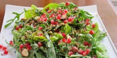 Spinach salad with fruit., Can add goat cheese, spiced pecans and fruit balsamic vinaigrette Spiced Pecans, Candied Walnuts, Healthy Salad Recipes, Soup Recipes, Recipies, Anniversary Dessert, Watermelon And Feta, Salad Bar, I Foods