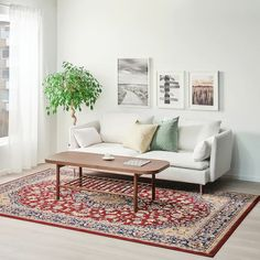 VEDBÄK Rug, low pile, multicolour - Shop online or in-store - IKEA Motif Oriental, Oriental Pattern, Ikea Rug, Medium Rugs, Professional Carpet Cleaning, 230, How To Clean Carpet, Bunt, Living Spaces
