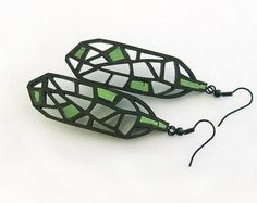 Earrings - contemporary, modern jewelry design, unique