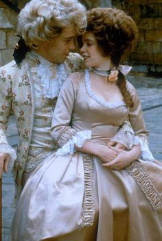 Wolfgang Amadeus Mozart (1756-1791) played by Tom Hulce, and Constanze Mozart played by Elizabeth Berridge in AMADEUS (1984).