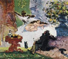 Cezanne, Paul (1873)  Uma Olimpia Moderna - A Modern Olympia