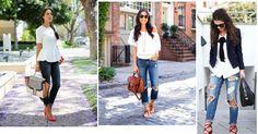 Cómo usar blusa blanca y verte genial, ¡ficha estas ideas!