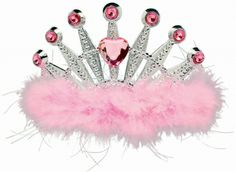 You will be the epitome of pretty in pink with this beautiful and bright plastic pretty pink tiara! Only $6.99 from Parties2order, not much for feeling like a princess!