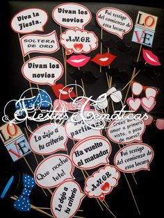 photo booth props para imprimir frases - Buscar con Google: