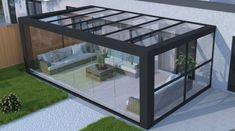 Roof Terrace Design, Covered Patio Design, Rooftop Design, Home Room Design, House Design, Exterior Patio Doors, Modern Outdoor Kitchen, Garden Room Extensions, House Extension Design