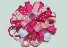 Image detail for -Loopy Flower Bows for littles girls hair
