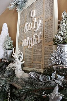 Oh Holy Night - love this - could be done with any song title --