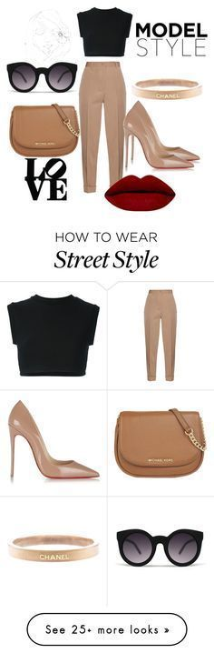 """Street Style"" by dzenita-219 on Polyvore featuring Bottega Veneta, adidas Originals, Christian Louboutin, MICHAEL Michael Kors, Chanel, PBteen, women's clothing, women's fashion, women and female"