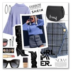 """Power look"" by nena19sm ❤ liked on Polyvore featuring Chicwish, Yves Saint Laurent, Gucci, Stupell, Laura Mercier, Bobbi Brown Cosmetics, girlpower, powerlook and shein"