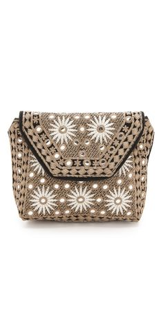 FREE SHIPPING at shopbop.com. Shimmering paillettes mix with intricate embroidery on this Antik Batik pouch, and a magnetic flap fastens over the top zip. Lined. Weight: 7oz / 0.2kg. Imported, India. MEASUREMENTS Height: 7in / 18cm Length: 8in / 20cm Depth: 3in / 7.5cm - Black $170.00 by ShopBop