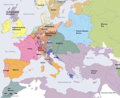 Europe Main Map at the Beginning of the Year 1700