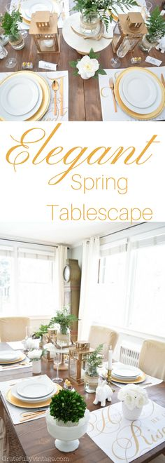 Elegant-Spring-Tablescape-by Kellie from Gratefully Vintage, she has talent!!