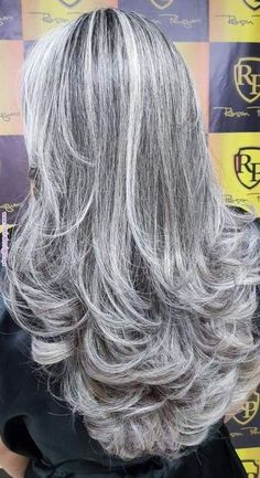 The beauty of age and grace. Grey Hair Wig, Long Gray Hair, Silver Grey Hair, Lace Hair, White Hair, Emo Hair, Curly Hair Styles, Natural Hair Styles, Silver Hair Styles